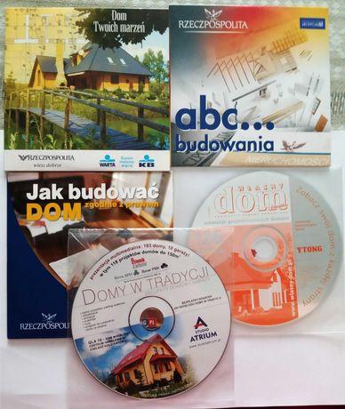 5x CD Poradniki: Jak budować dom; abc..budowania; dom twoich marzeń...