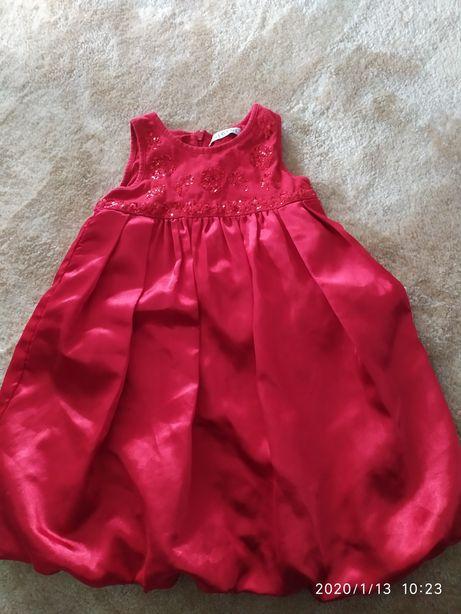 Czerwona sukienka 92-98 cm 2-3 lata