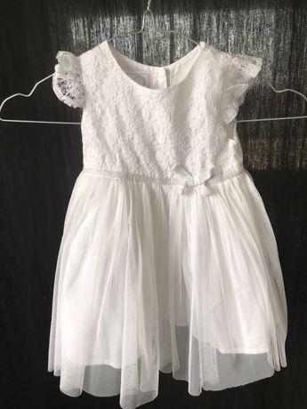 Biała sukienka tiul 74/80 coolclub