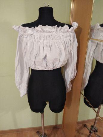 Bluzka hiszpanka biała roz s/m