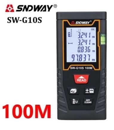 SNDWAY SW-G10S лазерная рулетка 100 метров новая версия дальномер
