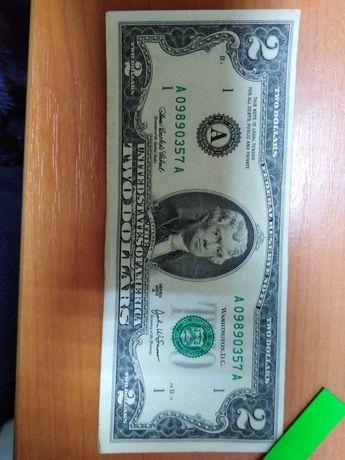 2 доллара купюра