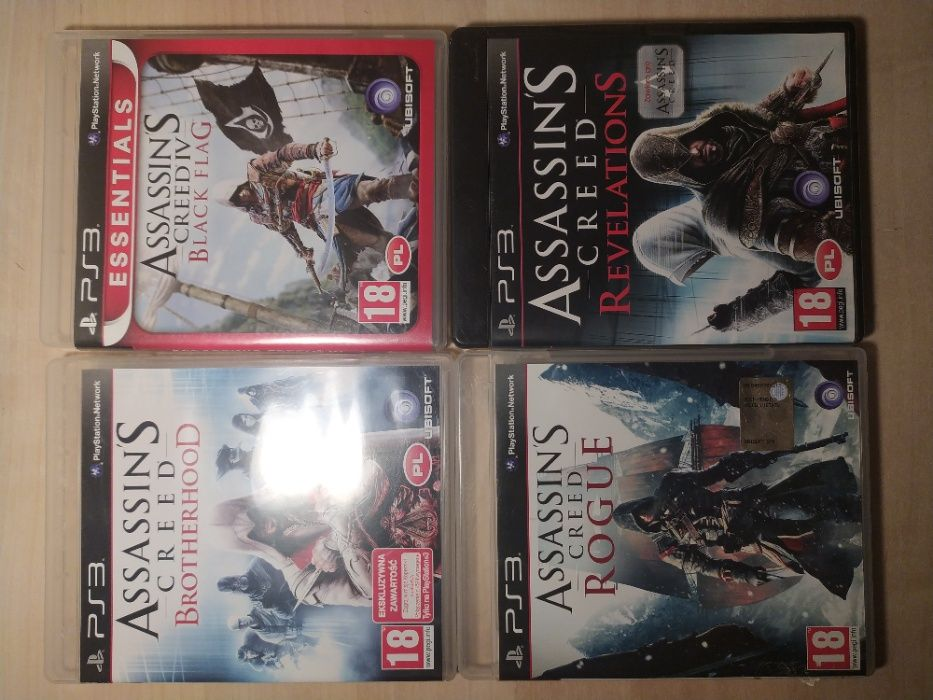 Assassin's Creed (Brotherhood, Revelations, Black Flag, Rogue) PS3 Puchaczów - image 1