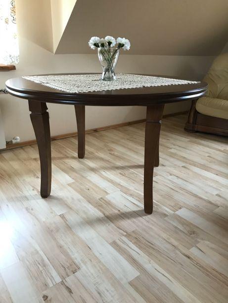 stół okrągły brązowy śr.130 cm - 5 szt