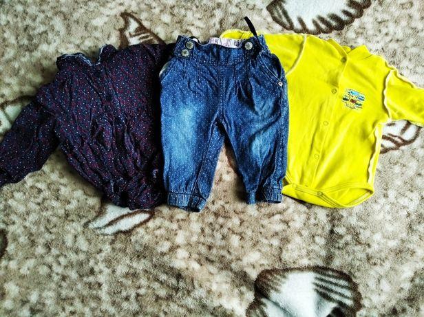 Два боди и джинсы на девочку