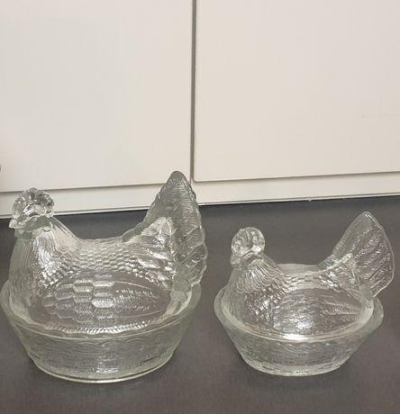 Kury szklane Ząbkowice, transparentne