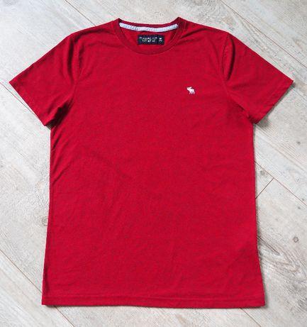 Abercrombie&Fitch_burgundowy melanż t-shirt_rozmiar M