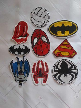 spiderman,batman termonaszywki haftowane myszka miki minionki