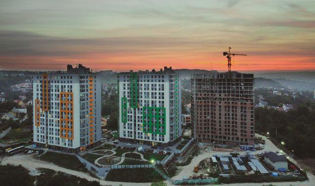 1 к квартира 44 м2 ЖК Щасливий 3 черга на етапі будівництва