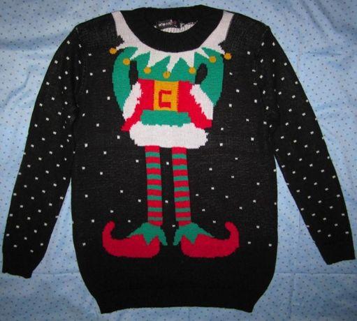 Новогодний свитер Эльф, размер М/L,