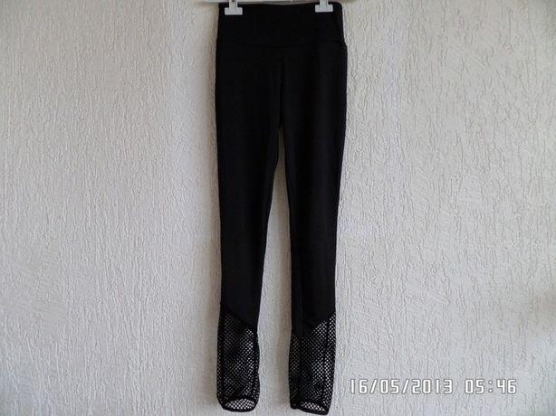 Elastyczne legginsy getry z siateczką
