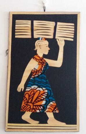 Quadro Guiné Bissau artesanato