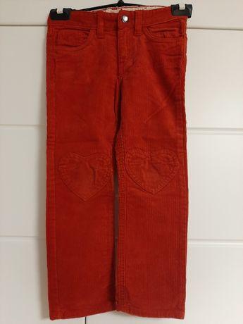 Spodnie sztruksowe dziewczęce H&M r. 104