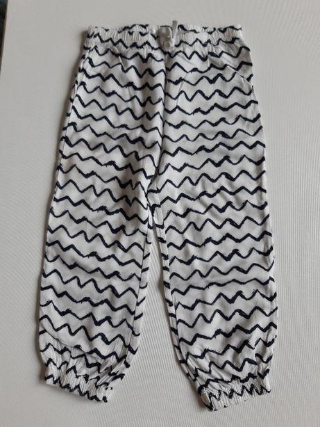 Cienkie spodnie na lato białe 92