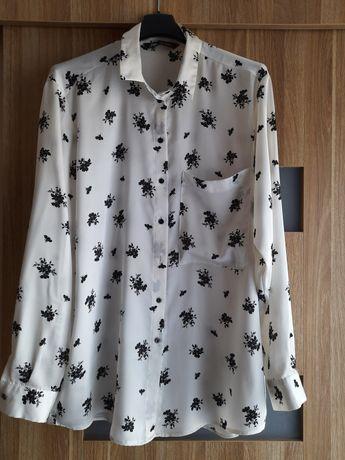 Zara - elegancka satynowa koszula XL