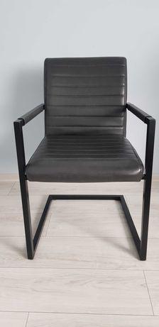 Krzesła czarne ekoskóra
