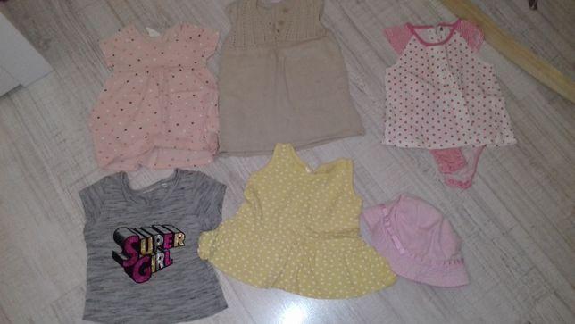 Ubranka dla dziewczynki r 68 - 74
