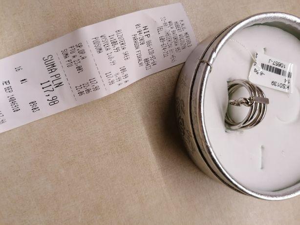 Pierścionek srebrny z zawieszką