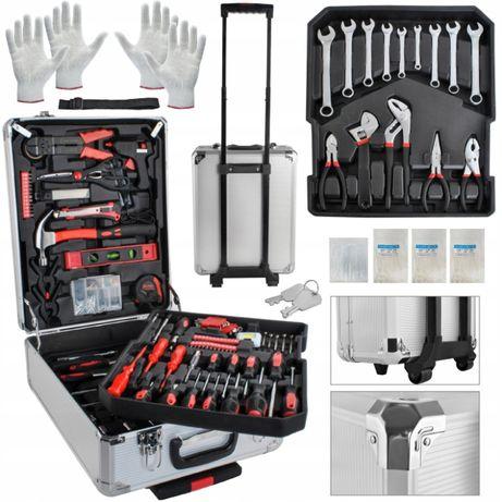 Zestaw narzędzi w walizce 1000el. walizka klucze skrzynka narzędziowa