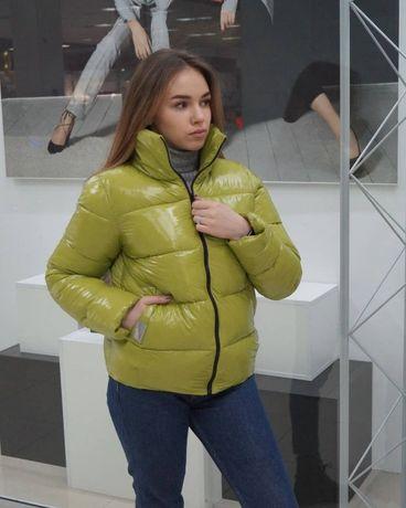 Куртка демисезон лак Moncler 42,44,46,48,50р.