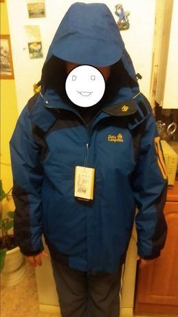 Лыжная куртка 3 в одном подкладка отстегивается