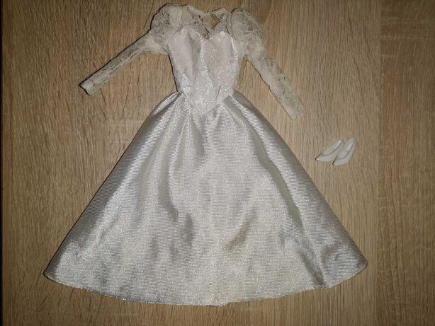 Sprzedam ubranko suknia ślubna/balowa mattel barbie lata 90