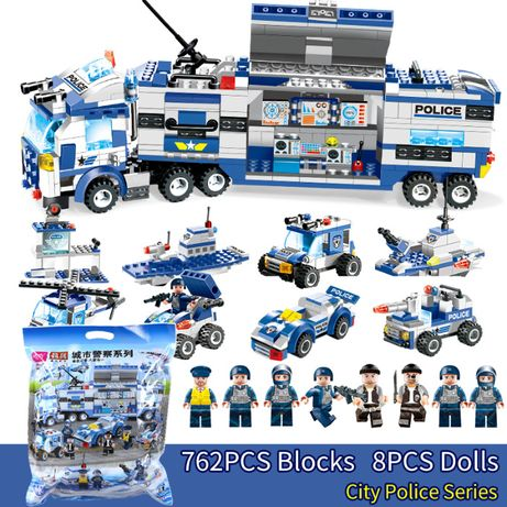 Miasto Policja Klocki z LEGO kompatybilne pojazdy policyjne 762 sztuk