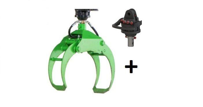 Chwytak 0,21m3 + Rotator hydrauliczny 3T / Do drzewa, lasu / DOSTĘPNE Myślenice - image 1