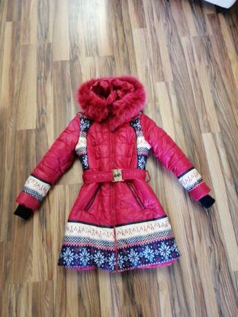 Куртка пуховик для дівчинки, зимова