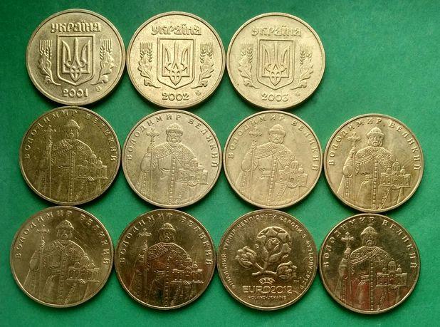 Колекція обігових монет 1 гривня.