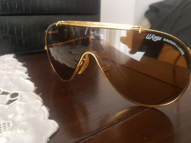 Oculos de sol  aviador Wings bausch & lomb vintage