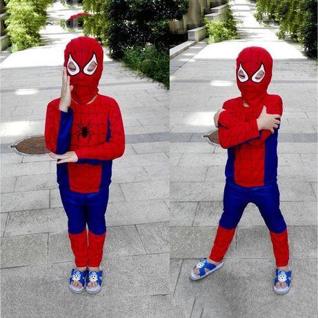 Маскарадный костюм Спайдермен синий, человек паук