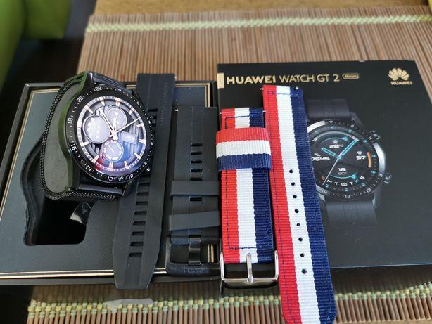 Zegarek Huawei Watch GT 2 + paski, ideał - Wrocław