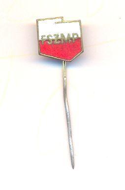 Znaczek metalowy PRL - FSZMP