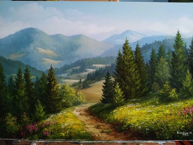 Картина маслом ''Гірський пейзаж''