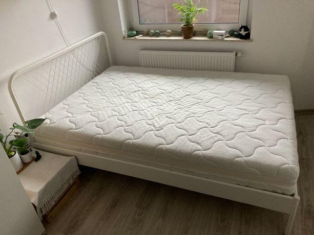 Łóżko dwuosobowe Ikea NESTUNN I materac GRAB TENCEL 140x200 cm