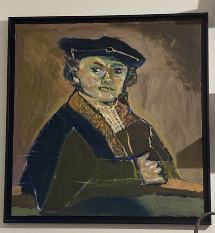 """Quadro oleo """"retrato Rembrant"""""""
