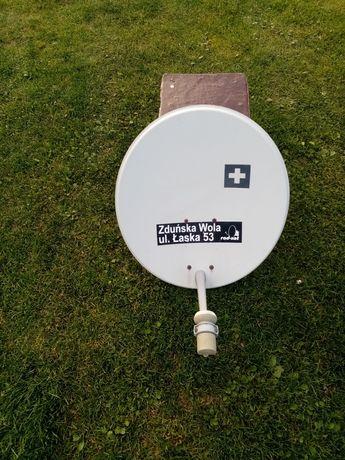 Antena satelitarna razem z konwekterem
