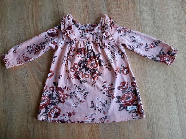Sukienki Newbie r.74/cena za dwie