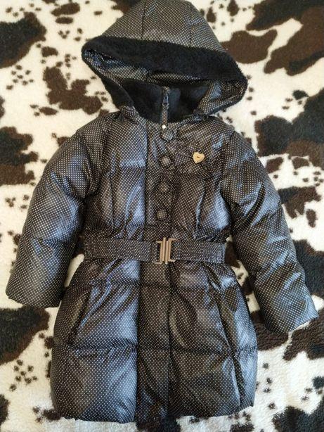 Зимнее пальто пуховик куртка на девочку 98см