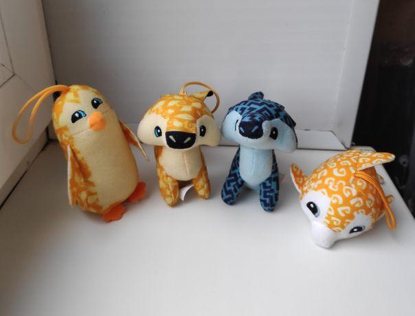 Мягкая игрушка лис (койот) , дельфин, пингвин Animal jam
