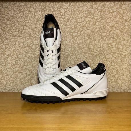 Кожаные бутсы сороконожки Adidas Kaiser 5 оригинал размер 45 46 белые