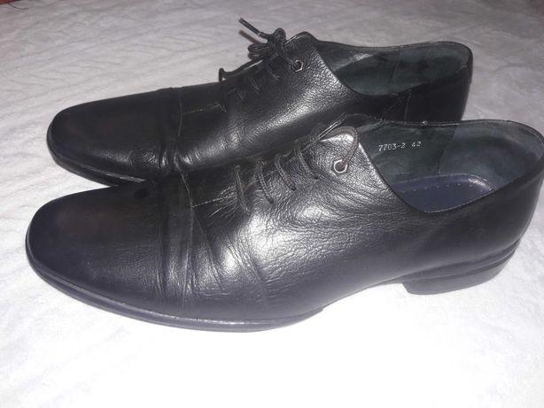 Мужские кожаные туфли ручной работы Saccio Италия р.42