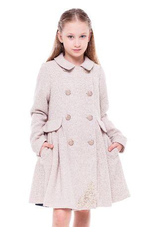Купить детское пальто, платье, шерстяное, для девочек бренда VILONNA