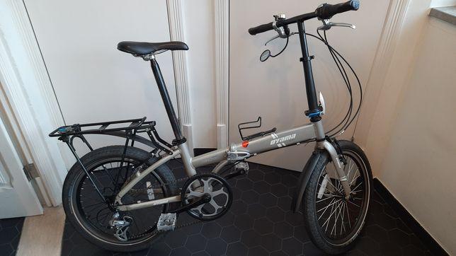 Bicicleta dobrável 8 velocidades