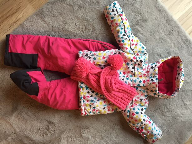 Komplet narciarski sniegowy 110 spodnie narciarskie kurtka