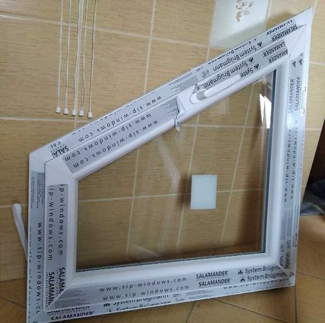 OKNO PCV 860x9350 biały, 2 szyby, prawe