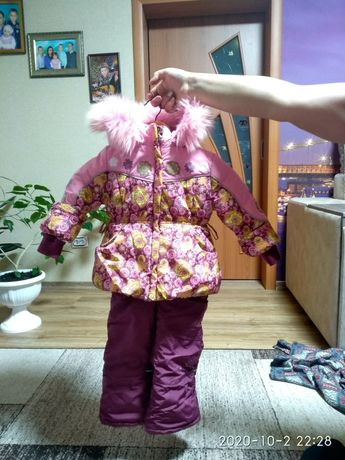 Kiko комбинезон для девочки 86 см костюм куртка штаны