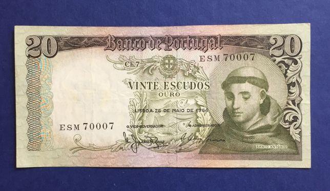 CAPICUA - nota de 20 escudos - Santo António - 26 MAIO 1964