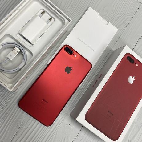 iPhone 7 Plus 128 gb red neverlock, обмен/гарантия в идеале